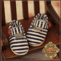 Shoes - Yu Ping HH0021A Striped Maryjane