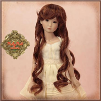 "Wig - WD0017A  Brown Long Curly Wig for 12"" InMotion Girl doll"
