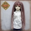 "Wig - WD0018A Pink Long Hair With Braids for 12"" InMotion Girl doll"