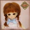 Ruby Red Galleria Honee-B - Red Mohair Wig With Braids CD0017A