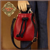 "Ruby Red Galleria 12"" In Motion Girl - Red Bag With Black Belt HZ0025A"