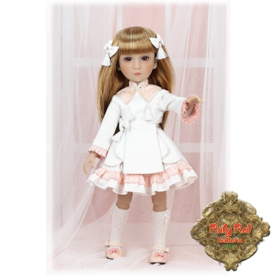 Ruby Red Galleria Girls Of The Orient - White & Pink Outfit KC0004A