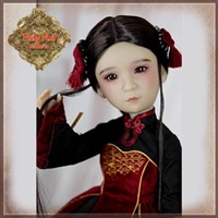 Pre-Order: Ruby Red Galleria Girls Of The Orient - Red Black Outfit KC0010A