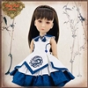 Ruby Red Galleria Girls Of The Orient - Blue White Outfit KC0011A