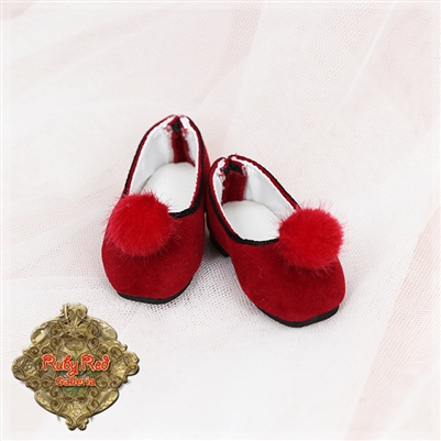 Shoes - Girls Of The Orient KH0004B Red Chuzzle