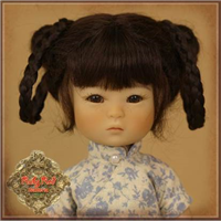 Wig - HD0039A  Ten Ping Brown Mohair Wig with Braids