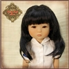 Wig - HD0045A  Ten Ping Black Mohair Wig with Braids