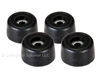 "4 Piece Penn-Elcom Black Rubber Cabinet Foot 1"" x 9/16"""