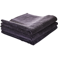 Midnight Black Edgeless Microfiber 16x16 (3-Pack) - MF_105_3