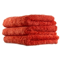 Fluffy Finish Red Microfiber 16x16 (3-Pack) - MF_111_3