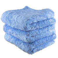 Fluffy Finish Blue Microfiber 16x16 (3-Pack) - MF_112_3