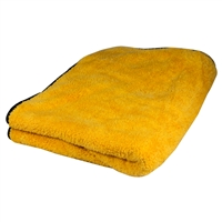 "Big Orange Silk Lined Microfiber Drying Towel 36"" x 25"""
