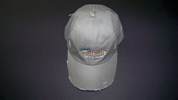 Outkast Gray Baseball Cap - Flexx Fit Gray/Distress (Fits L-XL)