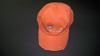 Outkast Orange Baseball Cap - Flexx Fit Orange/Distress (Fits L-XL)