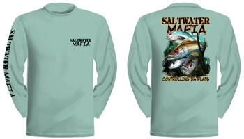 "Saltwater Mafia - ""Controlling"" Dry-Fit Long Sleeve (Select Size)"