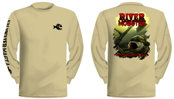 "Saltwater Mafia - ""River Mobster"" Dry-Fit Long Sleeve (Select Size)"