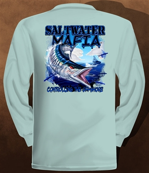 "Saltwater Mafia - ""Wahoo"" Dry-Fit Long Sleeve (Select Size)"