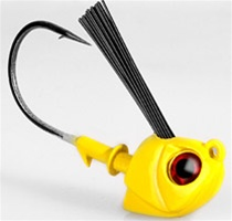 Warbaits - Slayer Head - Yellow - 1oz Head 6/0 Hook (2-Pack)
