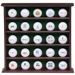 JEF World of Golf JR625 25 Ball Rosewood Collector's Cabinet