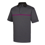 FootJoy Men's Golf Shirt - Stretch, Blk/Char/Mullberry