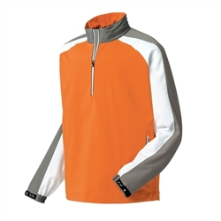 FootJoy Men's Sport Windshirt, Orange/Grey