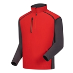 FootJoy FJ Mens WindTech Pullover Red/Charcoal/Black