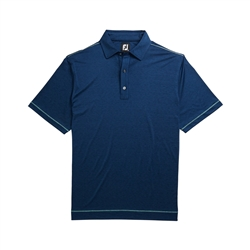 FootJoy Men's Golf Shirt Microstripe Deep Blue