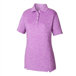 FootJoy Ladies Space Dye Golf Shirt, Grape