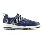FoFootJoy FJ Fury Spiked Golf Shoes, Navy -Style #51101 - 10.5
