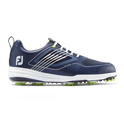 FoFootJoy FJ Fury Spiked Golf Shoes, Navy -Style #51101