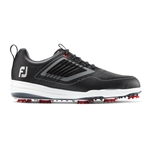 FoFootJoy FJ Fury Spiked Golf Shoes, Black -Style #51103 - 10
