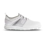 FootJoy FJ Superlites XP Golf Shoes, White/Grey