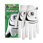Footjoy Men's Golf Gloves - WeatherSof (2 pack)