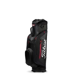 Titleist Club 7 Cart Bag, Black/Black/Red