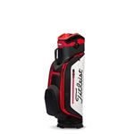 Titleist Club 7 Cart Bag, Black/White/Red