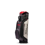 Titleist Club 7 Cart Bag, Black/Granite/Red