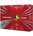 Callaway Chrome Soft Truvis Yellow Golf Balls 12pk (NEW)