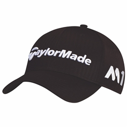 TaylorMade Golf Tour Radar Adjustable Golf Hat, Black