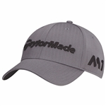TaylorMade Golf Tour Radar Adjustable Golf Hat, Grey