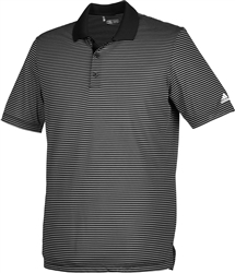 Adidas Men's 2-Colour Stripe Polo - Black/White