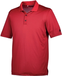 Adidas Men's 2-Colour Stripe Polo - Red/Black