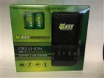 CR2 LI-ION 3V Rechargeable Rangefinder Battery & Charging Set