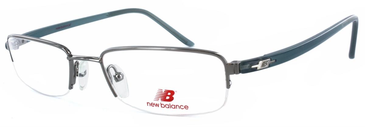 ca3487d8a4772d New Balance 375 Silver/Blue Eyeglass Frame
