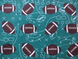GREEN FOOTBALL FLANNEL