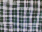 HUNTER GREEN & WHITE PLAID FLANNEL