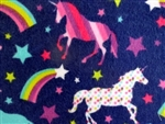 NAVY FLANNEL UNICORN