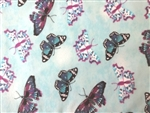 POWDER BLUE BUTTERFLY FLANNEL