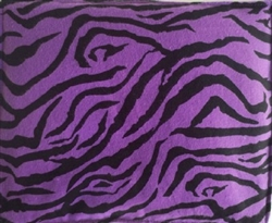 PURPLE & BLACK ZEBRA