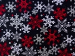 RED, BLACK & WHITE SNOWFLAKES