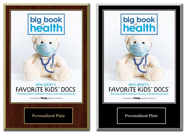 2020 Deluxe New Jersey Favorite Kid's Docs Plaques